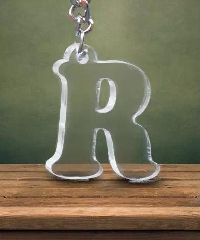 R Shape Keychain