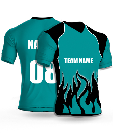 Dark Flames - Cricket Jersey or Sports T shirt with your name and number