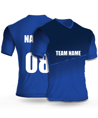 Draken Navy - Cricket Jersey or Sports T shirt with your name and number