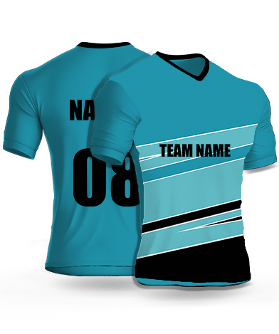 Gentle Stripe - Cricket Jersey or Sports T shirt with your name and number