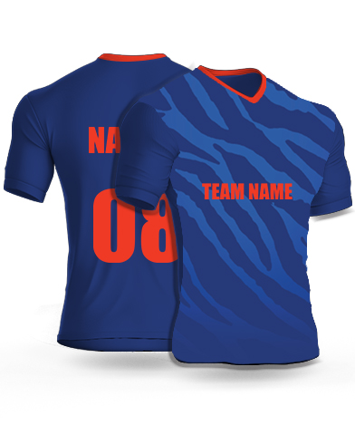 Military Tiger - Cricket Jersey or Sports T shirt with your name and number