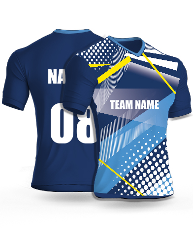 White Dots - Cricket Jersey or Sports T shirt with your name and number
