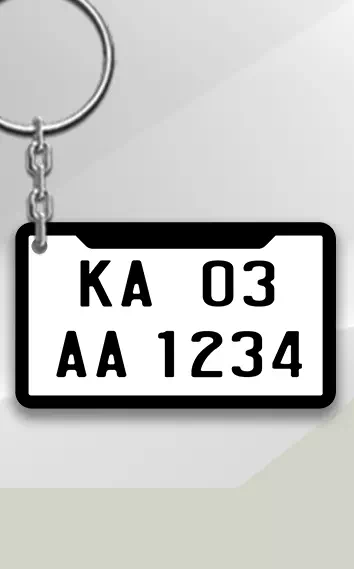 Black White keychain