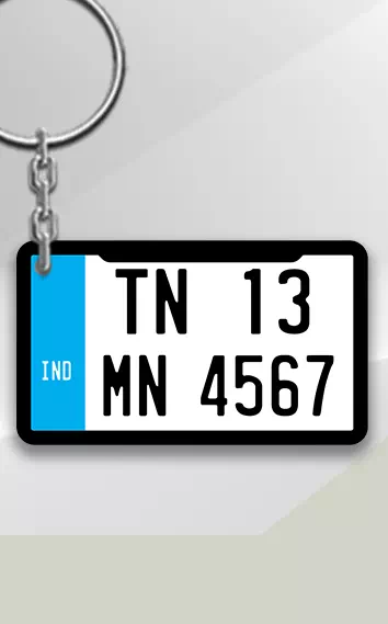 Blue White keychain