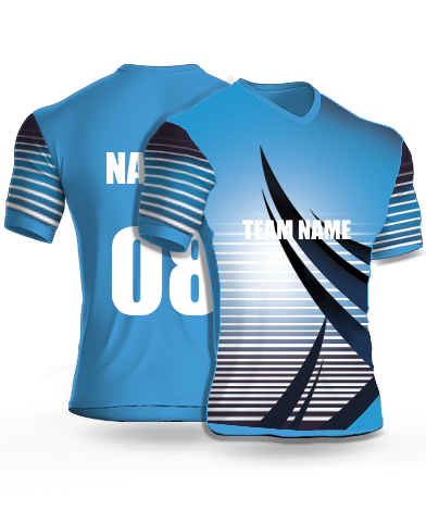 Blue Attack - Cricket Jersey or Sports T shirt with your name and number(12)