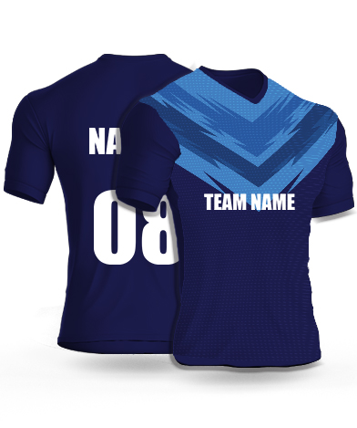 Blue Panther - Cricket Jersey or Sports T shirt with your name and number(77)