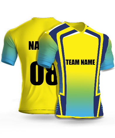 Captain Challengers - Cricket Jersey or Sports T shirt with your name and number(33)
