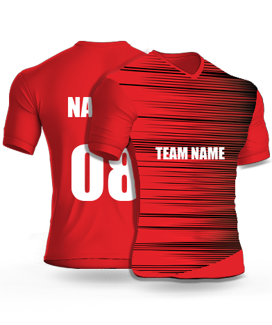 Crimson Speed - Cricket Jersey or Sports T shirt with your name and number(70)