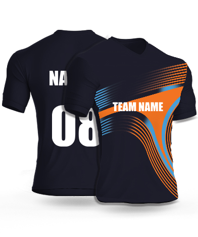 Dark Boomerang - Cricket Jersey or Sports T shirt with your name and number(25)