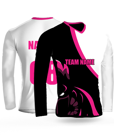 Dark Ninja Full Sleeves - Cricket Jersey or Sports T shirt with your name and number(20)