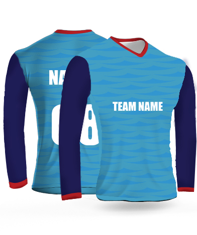 Delhi Full Sleeves - Cricket Jersey or Sports T shirt with your name and number(2)
