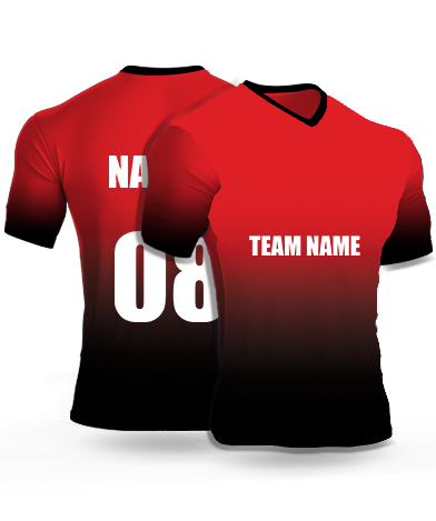 Diving Red - Cricket Jersey or Sports T shirt with your name and number(53)