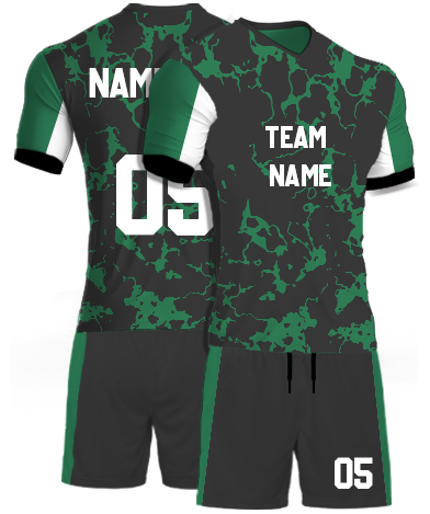 kabaddi Kit Jersey or Sports T shirt with your name and number(green_marble)