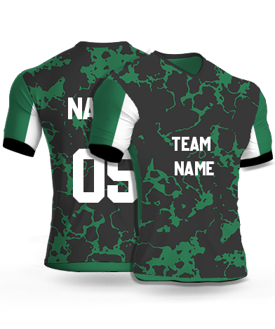 kabaddi Jersey or Sports T shirt with your name and number(green_marble)