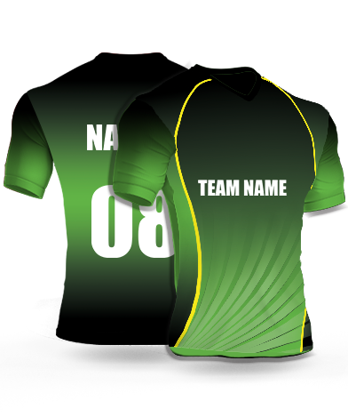 Greenish Ray - Cricket Jersey or Sports T shirt with your name and number(103)