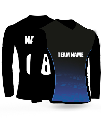 Half Beauty Full Sleeves - Cricket Jersey or Sports T shirt with your name and number(66)