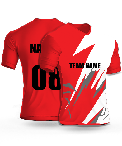 Half Flash - Cricket Jersey or Sports T shirt with your name and number(102)
