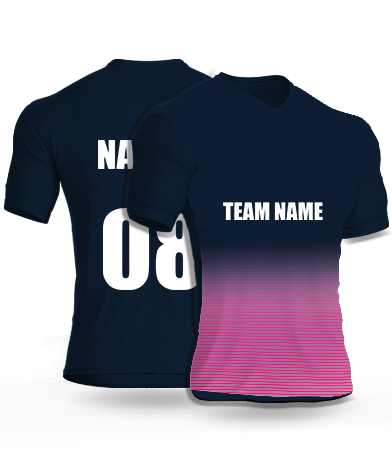 Half Navy - Cricket Jersey or Sports T shirt with your name and number(104)