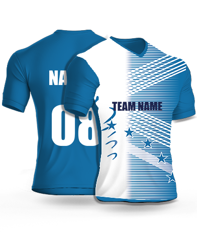 Half Star - Cricket Jersey or Sports T shirt with your name and number(100)