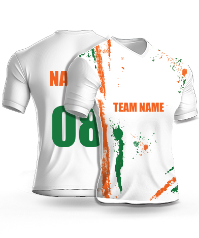 Independence Splash - Cricket Jersey or Sports T shirt with your name and number(14)