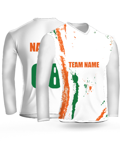 Independence Splash Full Sleeves - Cricket Jersey or Sports T shirt with your name and number(14)