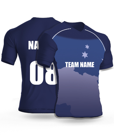 Landed Star - Cricket Jersey or Sports T shirt with your name and number(83)