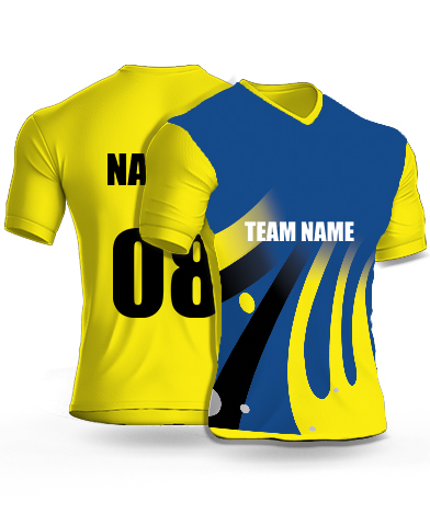 Merging Fingers - Cricket Jersey or Sports T shirt with your name and number(61)
