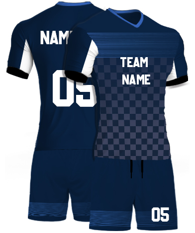 kabaddi Kit Jersey or Sports T shirt with your name and number(motor_blue)
