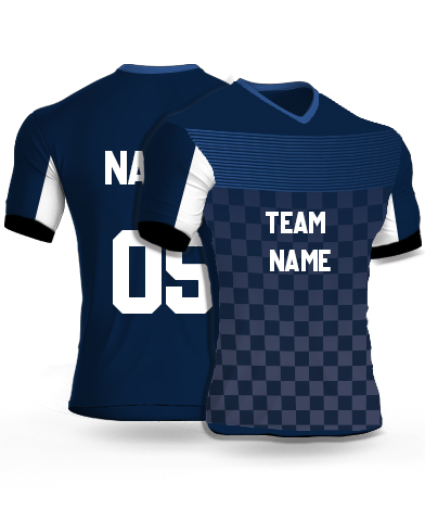kabaddi Jersey or Sports T shirt with your name and number(motor_blue)