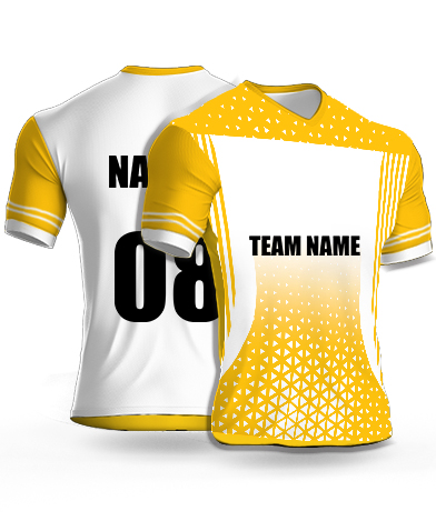 Multi Triangles - Cricket Jersey or Sports T shirt with your name and number(68)