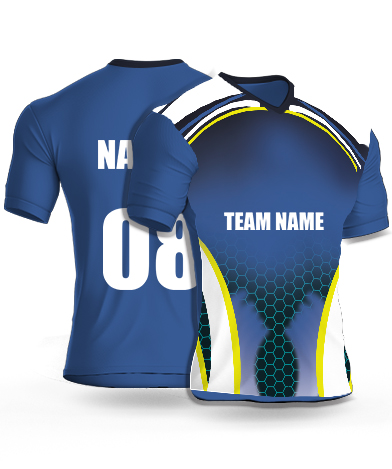 Navy Hexa - Cricket Jersey or Sports T shirt with your name and number(84)