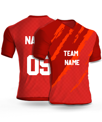 kabaddi Jersey or Sports T shirt with your name and number(orange_monster)