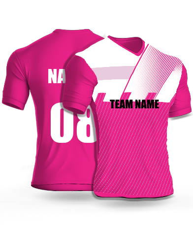 Pink Defenders - Cricket Jersey or Sports T shirt with your name and number(35)