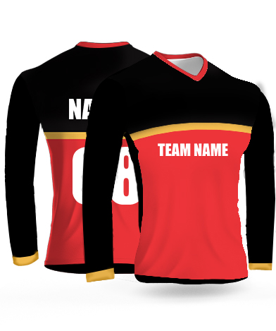 RCB Full Sleeves - Cricket Jersey or Sports T shirt with your name and number(6)