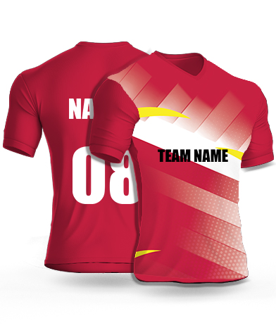Red Bulls - Cricket Jersey or Sports T shirt with your name and number(60)