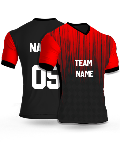 kabaddi Jersey or Sports T shirt with your name and number(red_theater)