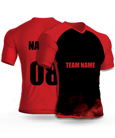 Redish Smoke - Cricket Jersey or Sports T shirt with your name and number(89)