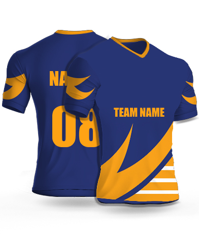 Royal Blues - Cricket Jersey or Sports T shirt with your name and number(52)