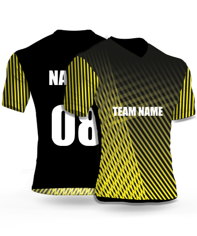 Shaded Zebra - Cricket Jersey or Sports T shirt with your name and number(74)