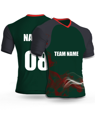 Smokey Dark - Cricket Jersey or Sports T shirt with your name and number(91)