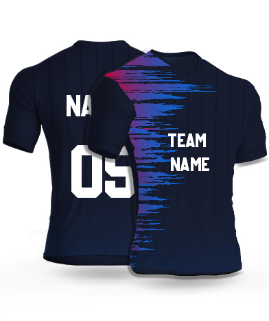 kabaddi Jersey or Sports T shirt with your name and number(sound_wave)