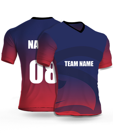 Super Volcano - Cricket Jersey or Sports T shirt with your name and number(73)