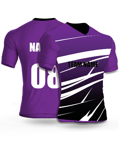 Violet Spikers - Cricket Jersey or Sports T shirt with your name and number(96)