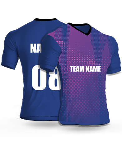 Voilet Flash - Cricket Jersey or Sports T shirt with your name and number(93)