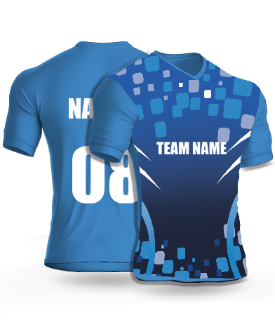 Water Tiles - Cricket Jersey or Sports T shirt with your name and number(65)