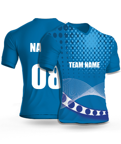 Wave Bearings - Cricket Jersey or Sports T shirt with your name and number(9)