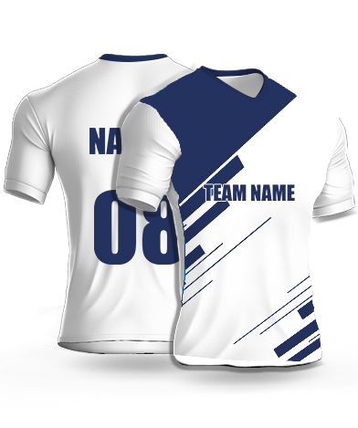 White Hawks - Cricket Jersey or Sports T shirt with your name and number(18)