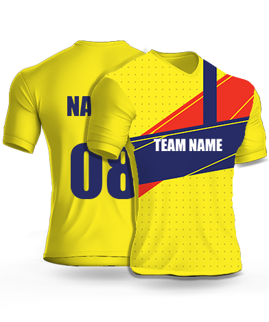Yellow Sponge - Cricket Jersey or Sports T shirt with your name and number(37)