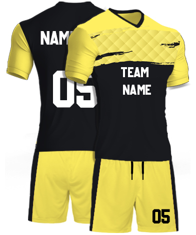 kabaddi Kit Jersey or Sports T shirt with your name and number(yellow_track)