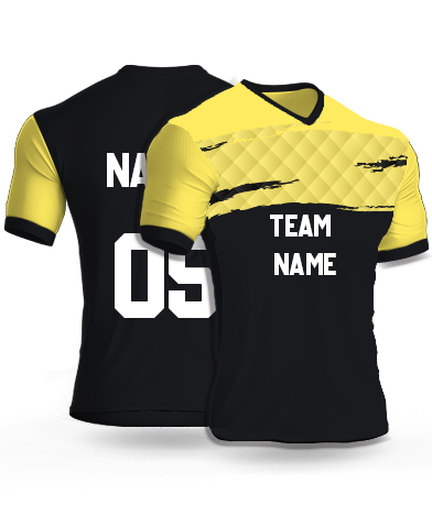 kabaddi Jersey or Sports T shirt with your name and number(yellow_track)